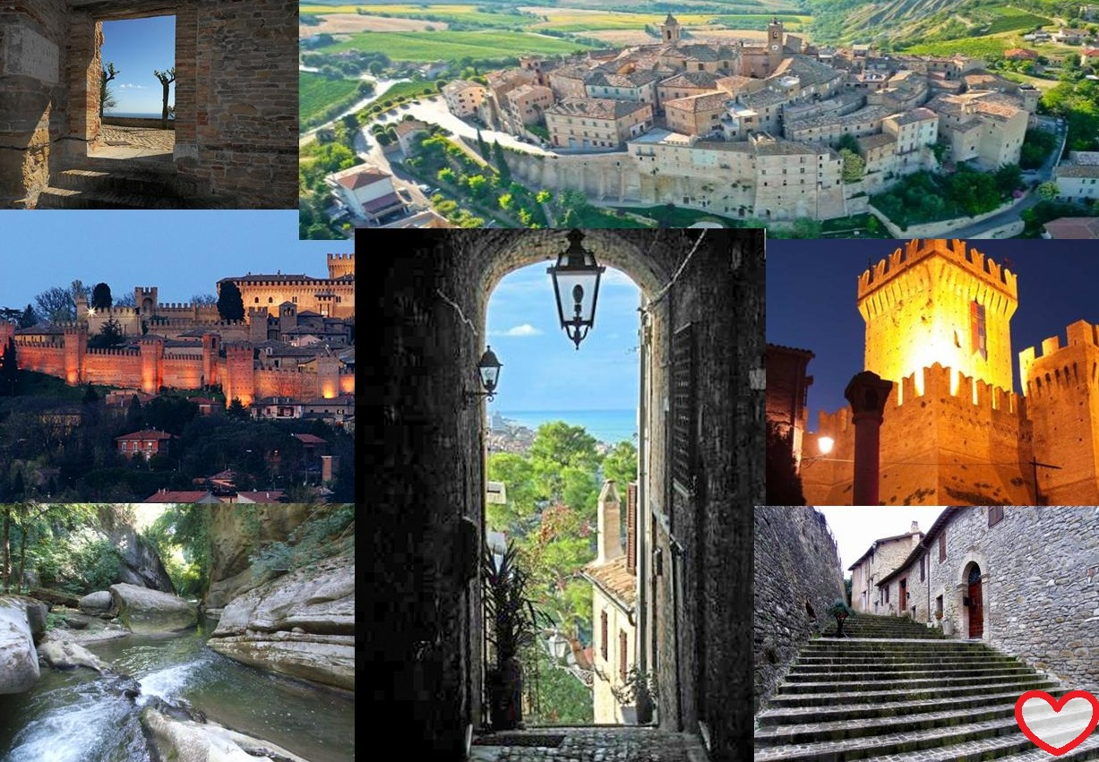 Little romantic Towns in the Marche perfect for a weekend of love. Ideal destinations to celebrate Saint Valentine's day.