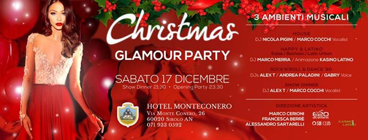 CHRISTMAS GLAMOUR PARTY al Monteconero Hotel